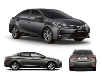 Toyota Corolla Altis Has A Fuel Tank Capacity Of  Liters