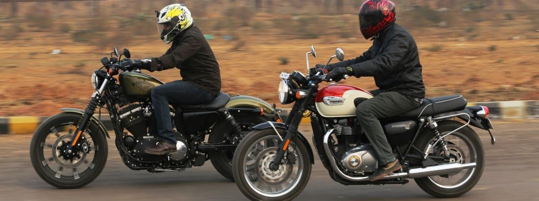 Harley Davidson Iron 883 vs Triumph Bonneville T100: Comparison ...