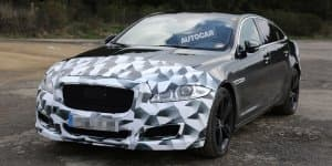 Jaguar XJ-R facelift spied in Germany