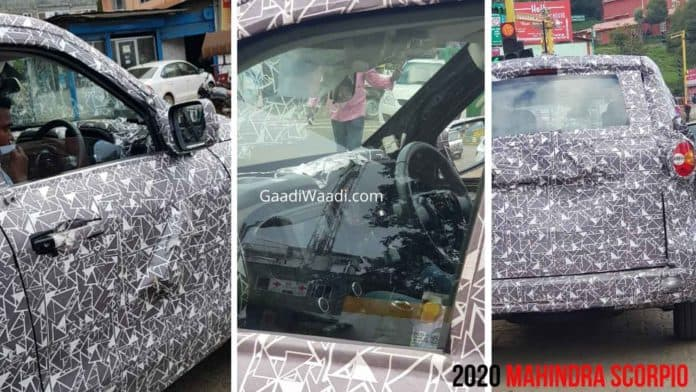 2020 Mahindra Scorpio Spied Testing Yet Again; Check Out