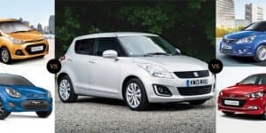 Quick Comparison - 2014 Maruti Suzuki Swift Facelift Vs Competition