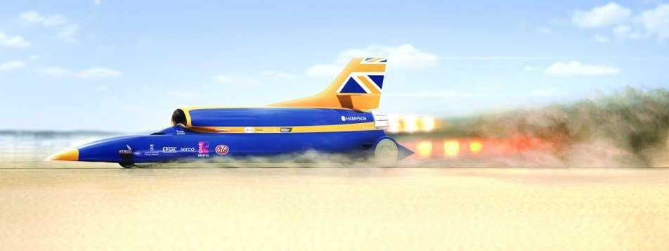 Video- BLOODHOUND SSC Supersonic car arrives in India