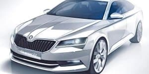 Official sketch of India bound 2015 Skoda Superb revealed