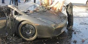 Lamborghini Gallardo burns to ashes in Florida after engine failure