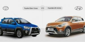 Compare Toyota Etios Cross Vs Hyundai i20 Active