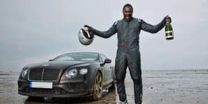 Actor Idris Ebra sets speed record in Bentley Continental GT