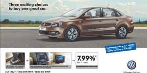 New car offer - Volkswagen offers exciting choices on the Vento!