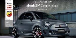 Fiat lists Abarth 595 Competizione on its website