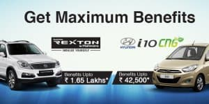Car Offers & Discounts in May 2015 – Ssangyong Rexton & Hyundai i10