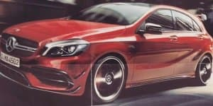 Mercedes A45 AMG facelift leaks out early with 400 bhp