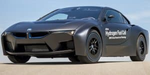 BMW i8 hydrogen fuel cell research vehicle revealed
