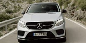 Video - Lewis Hamilton drives Mercedes GLE Coupe