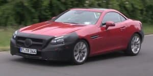 Video - India-bound Mercedes SLC spied