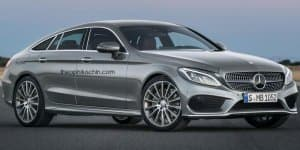 Render - How about a Mercedes C-Class four-door coupe?