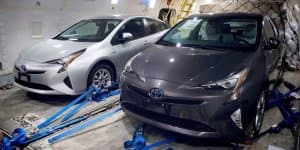2016 Toyota Prius photographed up close without any disguise