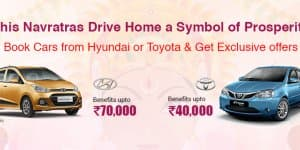 Car Offers & Discounts in October 2015 – Hyundai and Toyota cars
