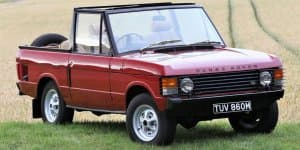 1973 Range Rover Convertible to be auctioned
