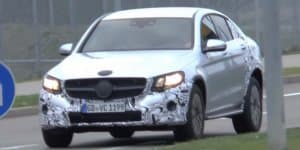 Video - Mercedes GLC Coupe spied on the road
