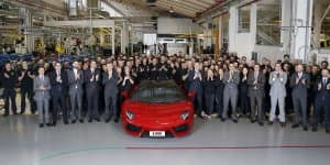 5000 Lamborghini Aventadors Produced in 55 Months