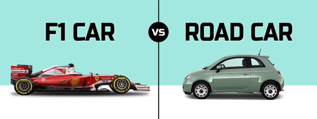F1 car Vs Road car- AutoPortal
