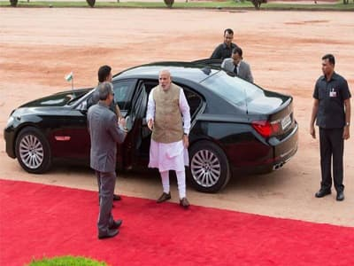 Image result for Narendra Modi with BMW 7 image