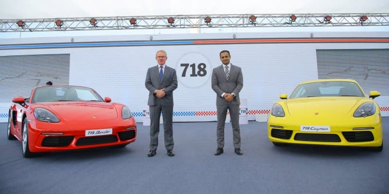 Porsche 718 Boxster and 718 Cayman Launched in India