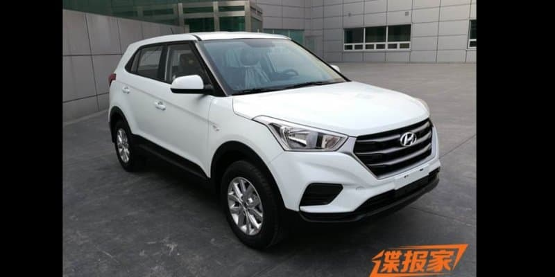 India-bound facelifted Hyundai Creta SUV spied undisguised in China