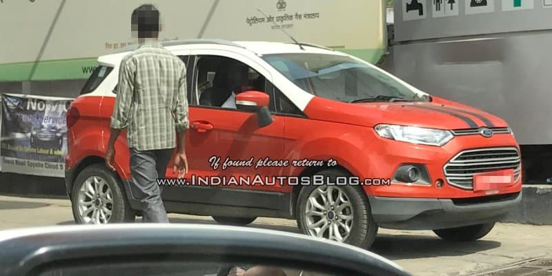 New dual tone Ford EcoSport spotted in India