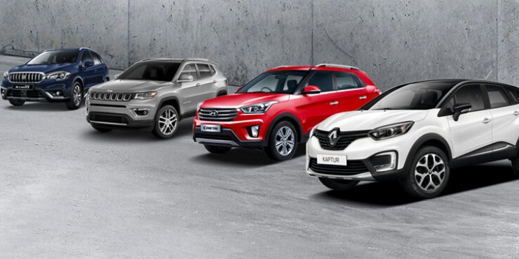 Compare Renault Captur Vs Hyundai Creta Vs Jeep Compass Vs Maruti S-Cross