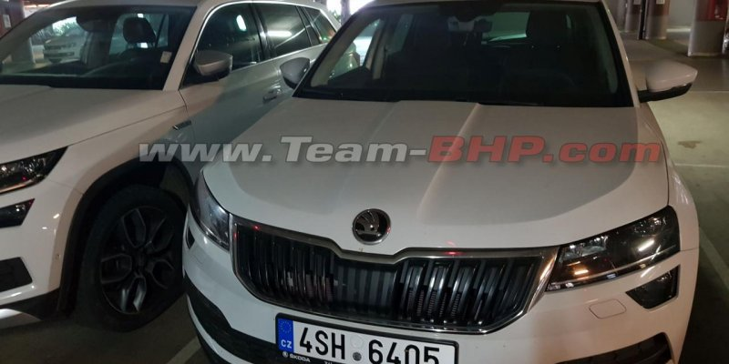 Skoda Karoq spied for the first time in India