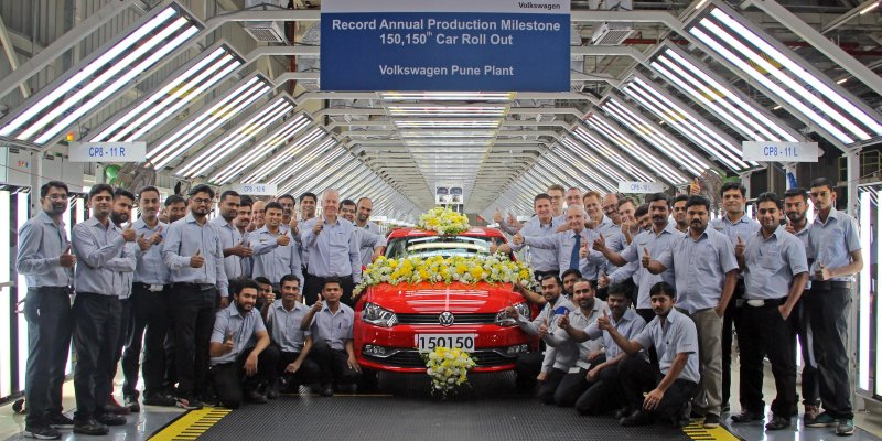 Volkswagen Pune Plant Records Highest Ever Annual Production in CY 2017