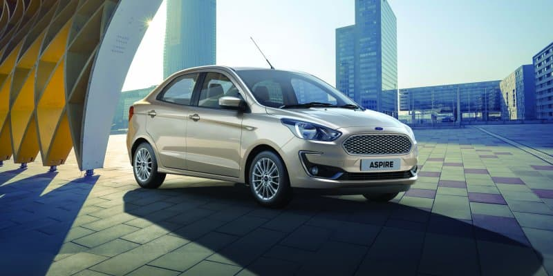 Official: 2018 Ford Aspire Facelift Bookings Start at Rs 11,000