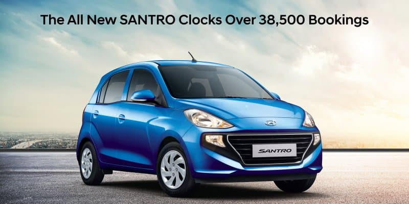All-New Hyundai Santro Registers 38,500 Bookings