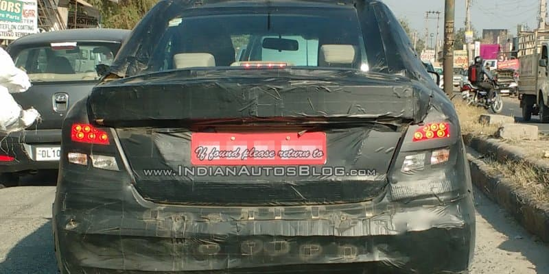 Next-Geneation Maruti Swift DZire Spied Testing in India